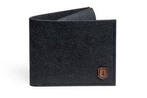 Veganer Schwarzer Geldbeutel Öko-Waschpapier Nox Washpaper Wallet - BeWooden
