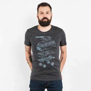 Julius Muschalek - Vanlife T3 - Mens Low Carbon Organic Cotton T-Shirt - Nikkifaktur
