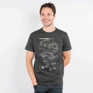 Julius Muschalek - Vanlife T2 - Mens Low Carbon Organic Cotton T-Shirt - Nikkifaktur
