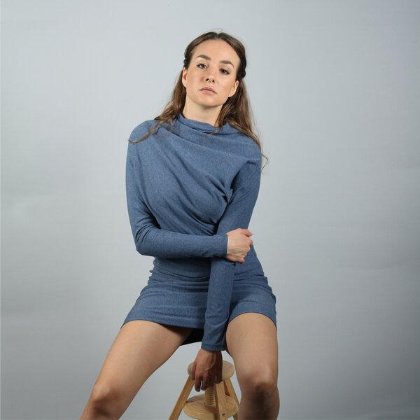 ManduTrap - Asymmetrisches Kleid Jumi in blau melange oder ...