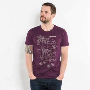 Julius Muschalek - Vanlife T1 - Mens Low Carbon Organic Cotton T-Shirt - Nikkifaktur