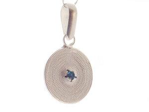 Anhänger kleine Spirale blau Silber - Filigrana Schmuck