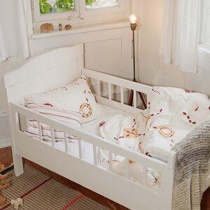 Kinderbettwäsche starflower rosa für Wiege und Kleinkinderbett - ingegerd