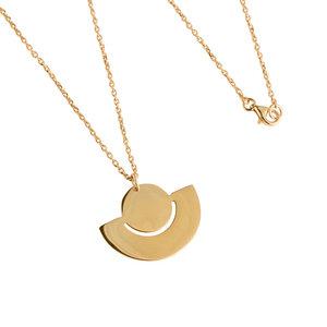 Halskette Fenland Filigran, vergoldet - macimo