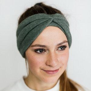 Stirnband Olive aus Bio Baumwolle - vegan - in 3 Varianten - obumi