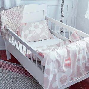 Kinderbettwäsche blume beige für Wiege und Kleinkindbett - ingegerd