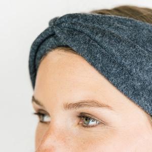 Stirnband Black Melange aus Bio Baumwolle - vegan - in 3 Varianten - obumi