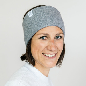 Stirnband Soft Grey aus Bio Baumwolle - vegan - in 3 Varianten - obumi