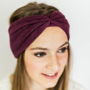Stirnband Burgundy aus Bio Baumwolle - vegan - in 3 Varianten - obumi