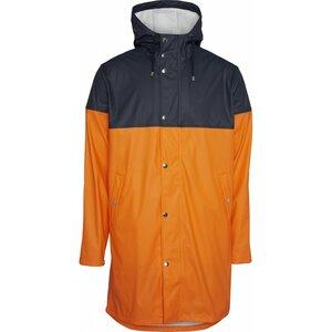 Regenjacke - Long rain jacket with chest print /Vegan - KnowledgeCotton Apparel