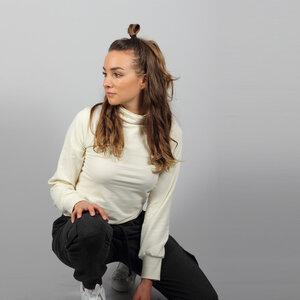 Turtleneck Pullover Sona in creme weiß oder beige braun - ManduTrap