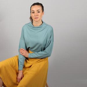 Stehkragen Pullover Dewi mit Fledermausärmeln in rost oder eisblau - ManduTrap
