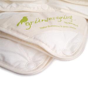 Bio Bettdecke Tencel 4-Jahreszeiten Kombidecke mit Baumwollbezug - purnatour