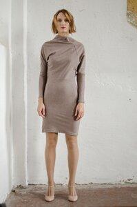 Asymmetrisches Kleid Jumi in blau melange oder hellbraun melange - ManduTrap
