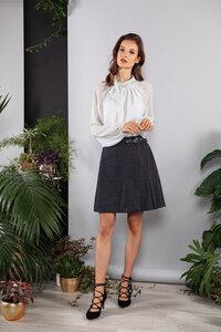 Minirock, Wickelrock feine und wärmende Stoffqualität ausgestellt - SinWeaver alternative fashion