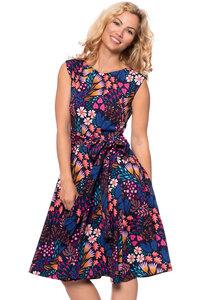 GRACE 50s Schwing Kleid in Herbstfarben - Ingoria