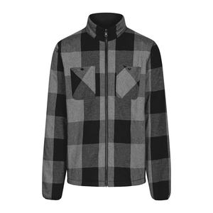 Reversible Padded Lumberjacket Black - bleed