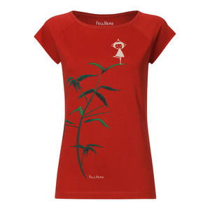 Damen T-Shirt Yoga Bio Fair - FellHerz