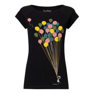 FellHerz Balloons Cap Sleeve T-Shirt Damen Bio Fair - FellHerz