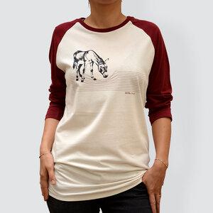 "Damen T-Shirt, ""Eselchen"", 3/4-Raglan-Ärmel - little kiwi"
