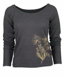 Hanf Langarm-Shirt schwarz von Uprise - Uprise