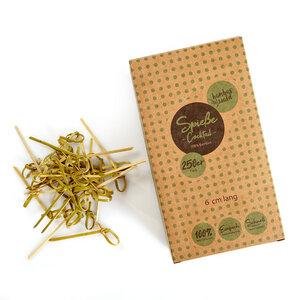 250x Cocktail-Spieße (6cm-Länge) aus 100% Bambus : Fingerfood-Spieße mit Knoten - Bambuswald