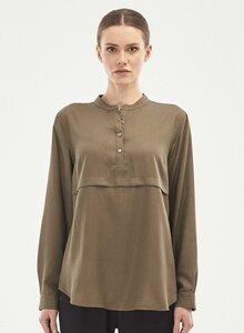Langarm Bluse aus Tencel mit Knopfleiste - ORGANICATION