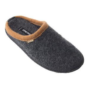 Bacinas Hausschuh Pantoffeln mit Farbakzent an der Öffnung 100% Wolle - Bacinas