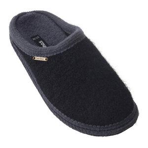 Bacinas Hausschuh Pantoffeln mit grauer Öffnung und Sohle 100% Wolle - Bacinas