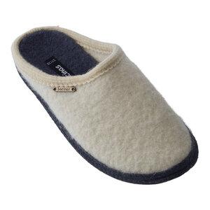 Bacinas Hausschuh Pantoffeln mit schwarzer Sohle aus 100% Wolle - Bacinas