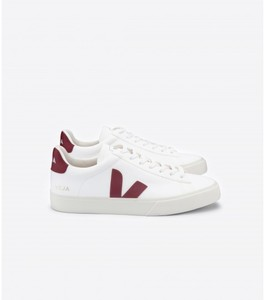 Sneaker Damen - Campo Leather - White Marsala - Veja