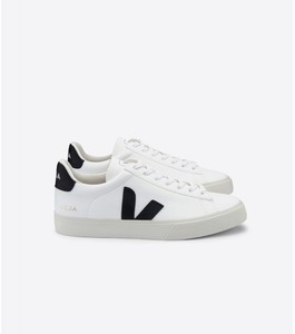 Sneaker Damen - Campo Leather - White Black - Veja