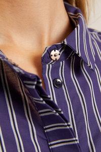 Lanius - Legeres Streifenhemd aus Bio Baumwolle GOTS zertifiziert - LANIUS