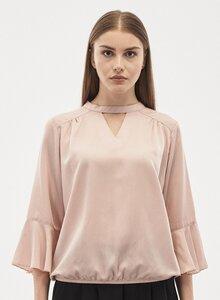 Bluse aus Tencel mit 3/4-Volantärmeln - ORGANICATION