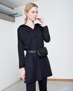 Blusenkleid ELEANOR schwarz kariert - JAN N JUNE