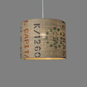 Deckenleuchte Perlbohne N°74 aus Kaffeesack - lumbono