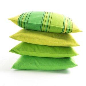 Sofakissen aus Bio-Baumwolle Grüntöne - HängemattenGlück
