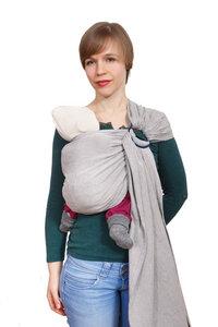 Babytrage -  Ringsling - Pur Grey - Madame Jordan