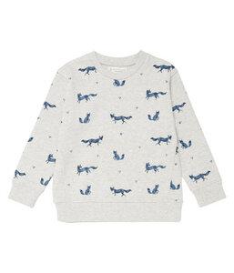 kuscheliger Sweat Pullover mit Fuchsprint | GOTS | Sense Organics - sense-organics