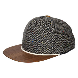 Tweed Cap mit edlem Holzschild Made in Germany - Sehr bequeme Wintercap - Lou-i
