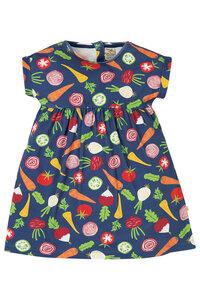 Frugi Kurzarm Mädchenkleid bunt Gemüse - Frugi