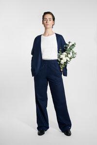 Marlene Hose aus Wollmix - Navy - LUXAA