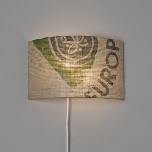 Wandleuchte Perlbohne N°69 aus Kaffeesack - lumbono