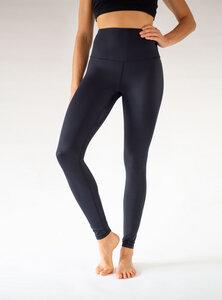 Extra Lange Yoga Leggings BLACK FLAMINGO - Arctic Flamingo