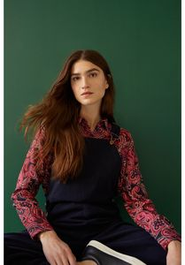 Paisley Bluse - Carla Paisley Shirt - Pink multi - People Tree