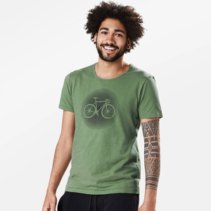 T-Shirt Adores Slub Bike Circle - GreenBomb