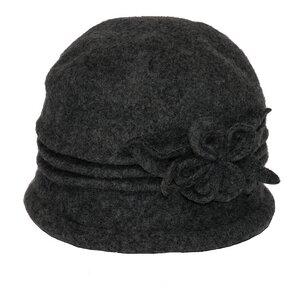 SILKROAD Retro Mütze Filzhut Damen ALICE - Hut aus 100%  Wolle in Grau - Silkroad - Diggers Garden