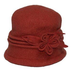 SILKROAD Retro Mütze Filzhut Damen ROSA - Hut aus 100% Wolle in Terra - Silkroad - Diggers Garden