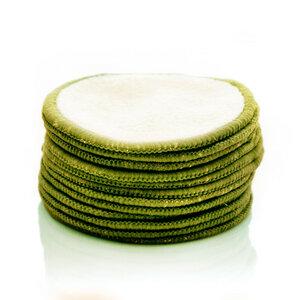 Abschminkpads waschbar aus Bambus inkl. Wäschenetz in 4 Farben - Bambuswald