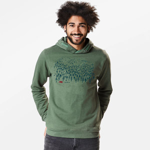 Hooded Sweater Star Nature Landscape - GreenBomb